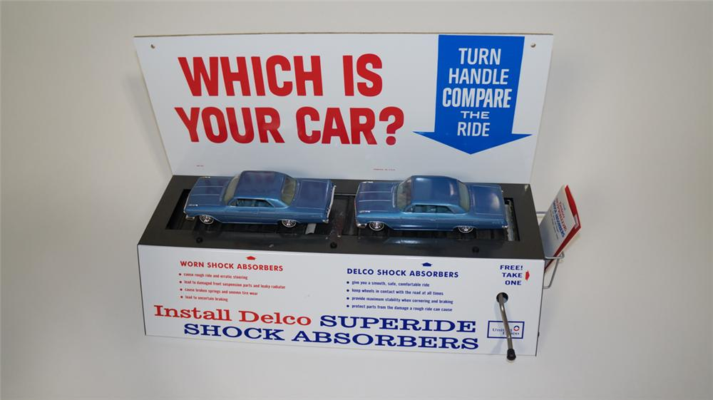 1962 Delco Shock Absorbers General Motors-Chevy Impala service department counter-top display. - Front 3/4 - 170807