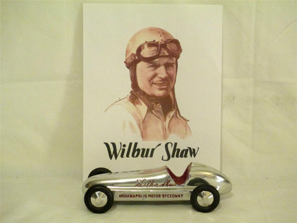 N.O.S. 1946 Wilbur Shaw Signature Indianapolis Motor Speedway aluminum racer. - Front 3/4 - 170896
