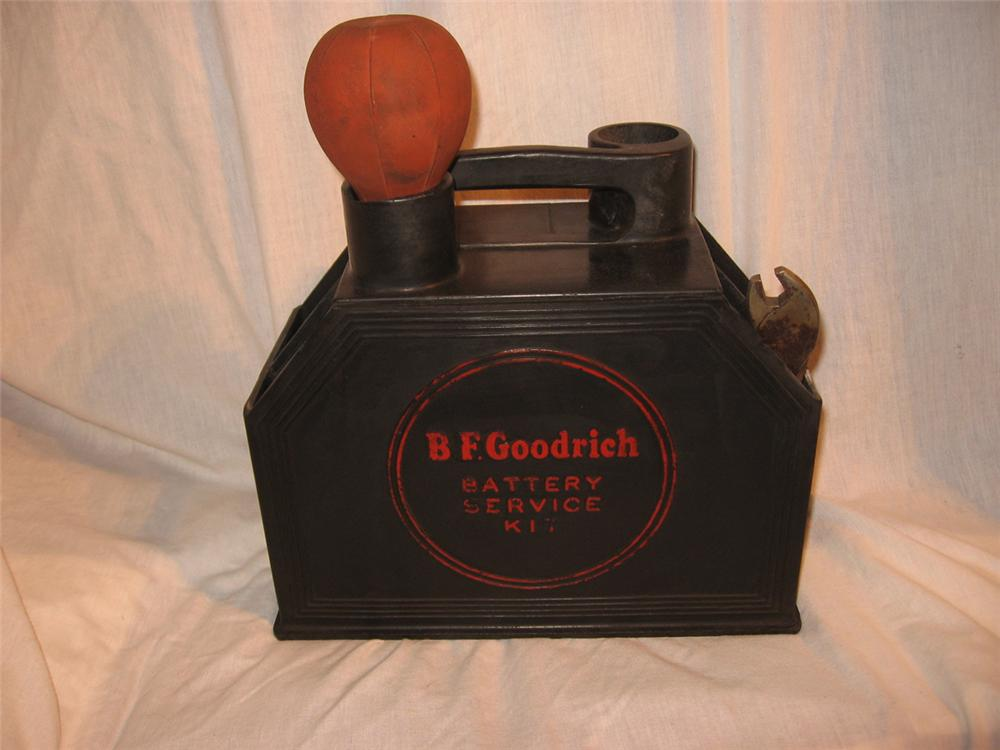 Original 1930's-40''s B.F. Goodrich Battery Service Kit.  Nice all original condition. - Front 3/4 - 170907