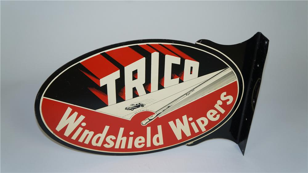 1946 Trico Windshield Wiper Wipers double-sided tin service station flange - Front 3/4 - 174825