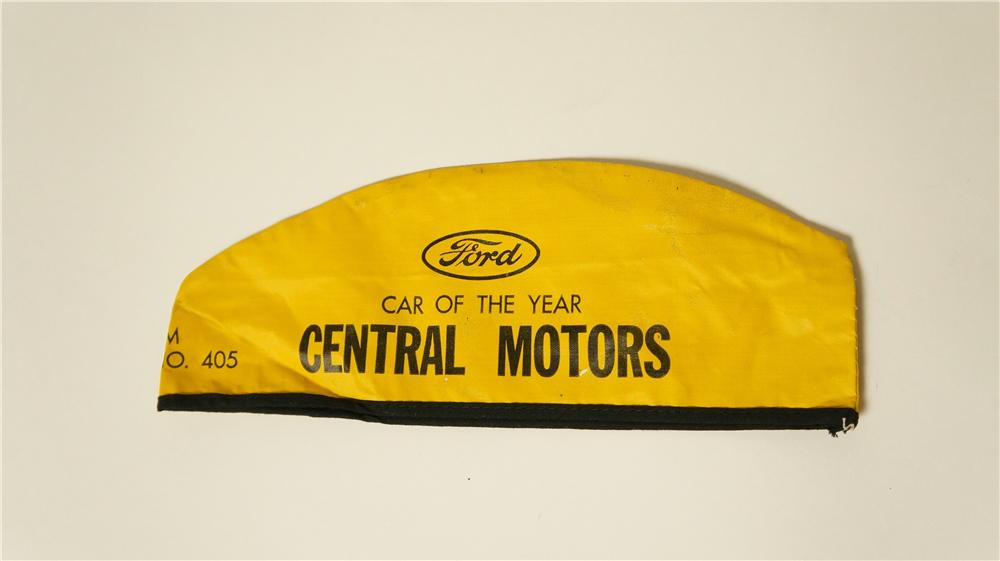 "1950's Ford ""Car of the Year"" mechanics hat found unused. - Front 3/4 - 174834"