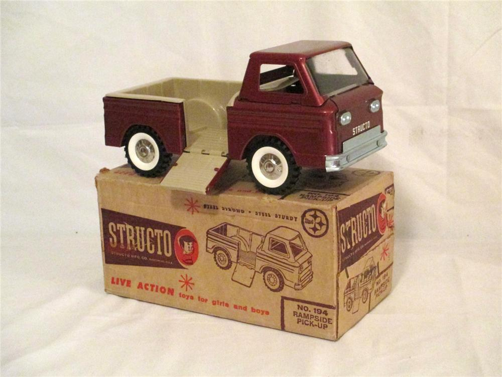 N.O.S. 1960's Structo Toys Ramp side pick-up truck found unused and in the original box. - Front 3/4 - 174902