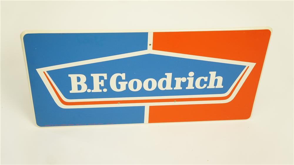 N.O.S. 1960's B.F. Goodrich single-sided tin automotive garage sign. - Front 3/4 - 174915