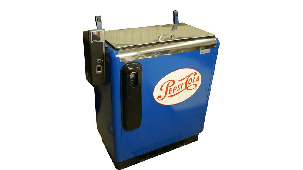 All original 1950's Pepsi-Cola ten cent slider machine by Ideal. - Front 3/4 - 174961