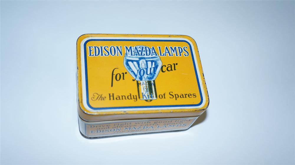 Choice late 1920's Edison Mazda Lamps for your Car tin emergency bulb kit. - Front 3/4 - 174985