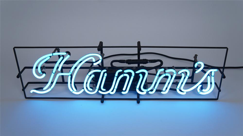 1940's-50's Hamm's Beer double-stroke neon script tavern sign found in all original condition. - Front 3/4 - 175057