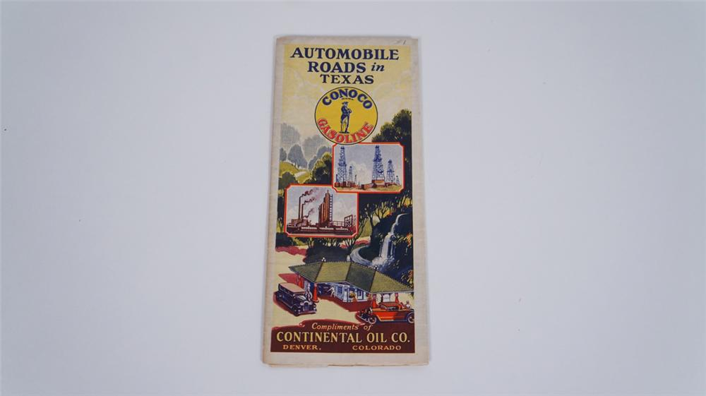 Early 1920's Conoco Gasoline filling station road map of Texas. - Front 3/4 - 175066
