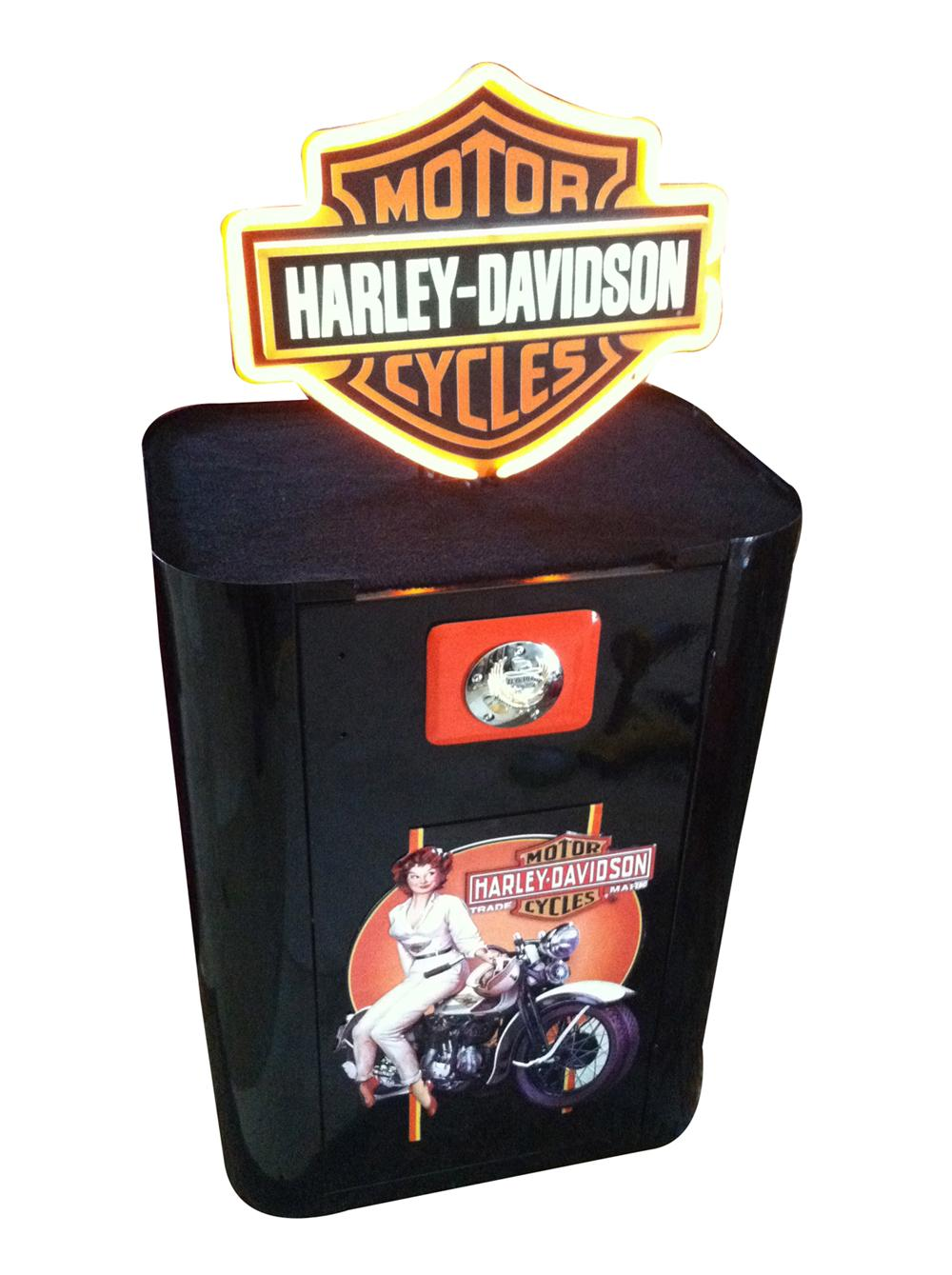 Beautiful 1940's-50's Harley-Davidson themed cabinet restored to perfection by McLaren Classic Restorations. - Front 3/4 - 175086