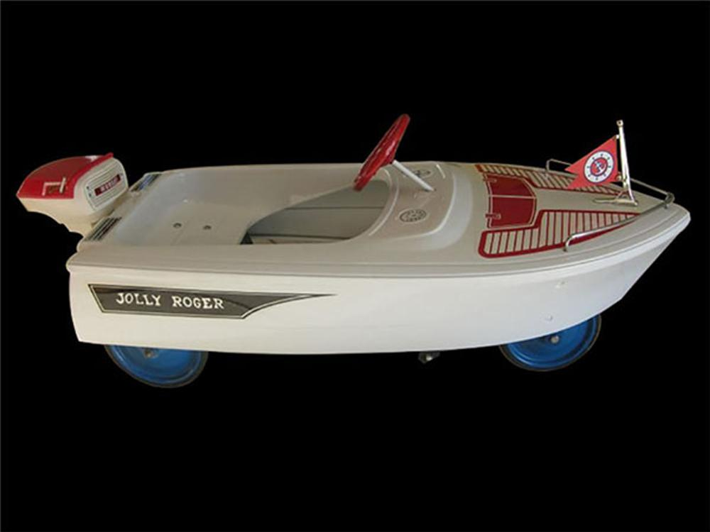 Fabulous 1960's Murray Jolly Rogers pedal car/boat with original motor. - Front 3/4 - 175108