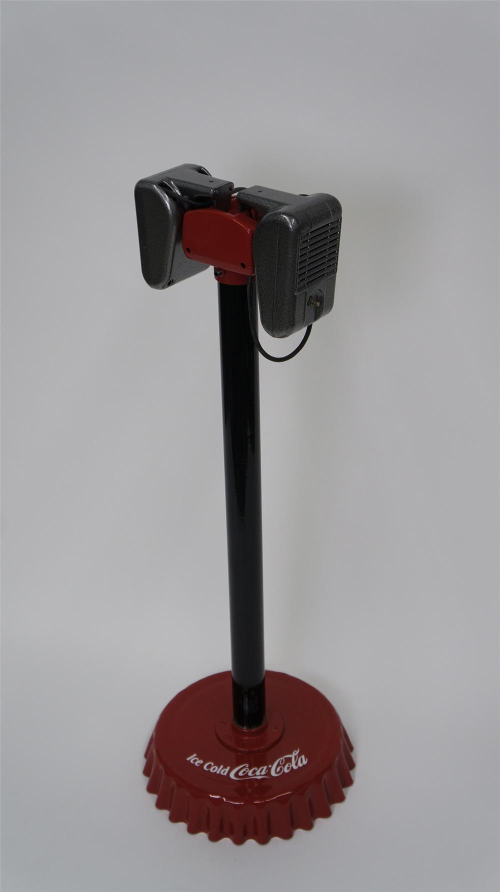 Set of 1950's restored drive-in speakers.  Nicely done with a hammer tone paint finish. - Front 3/4 - 177592
