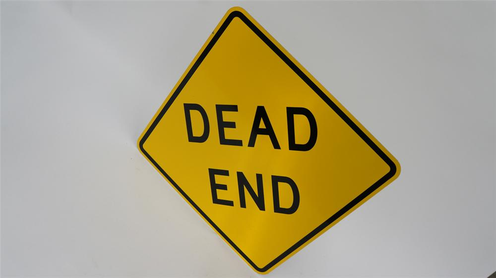 N.O.S. Dead End metal highway road sign found unused. - Front 3/4 - 177714