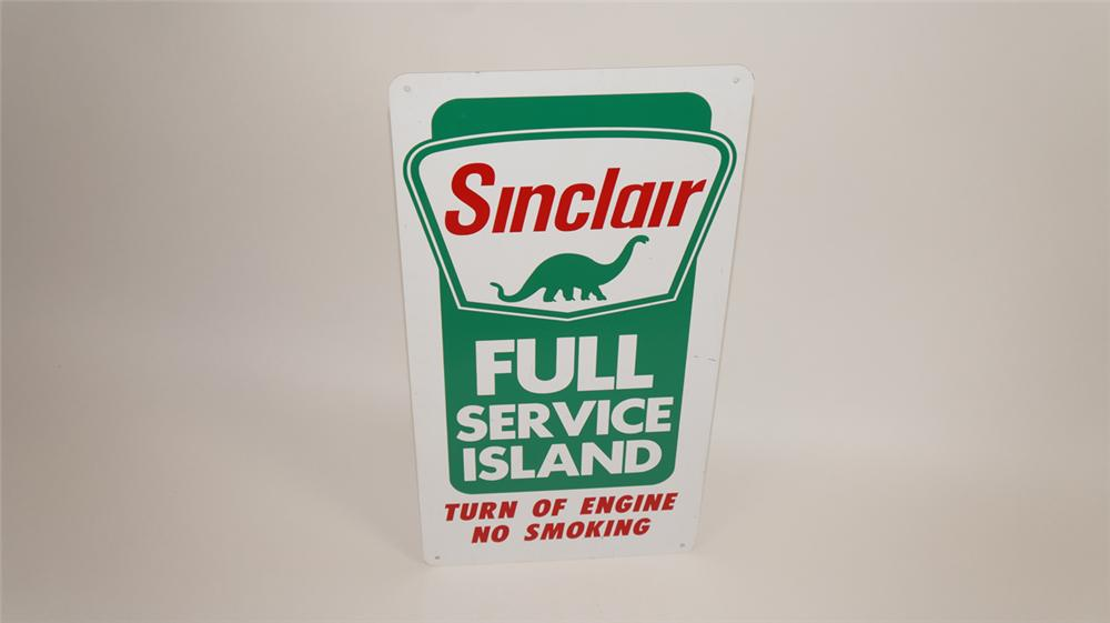 Circa 1960's Sinclair Full Service Island single-sided tin service station sign - Front 3/4 - 177748
