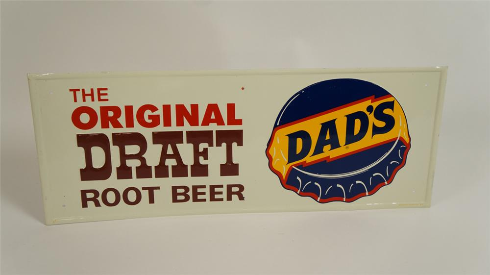 Sharp N.O.S. 1960's Dad's Root Beer single-sided tin sign - Front 3/4 - 177769