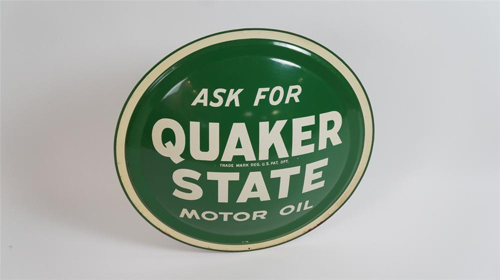 N.O.S. Quaker State Motor Oil three-dimensional automotive garage sign. - Front 3/4 - 177774