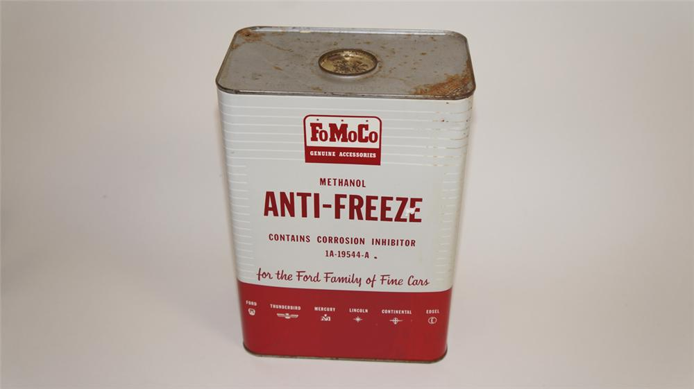 Early 1960's Ford FoMoCo Anti-Freeze one gallon tin. - Front 3/4 - 177785