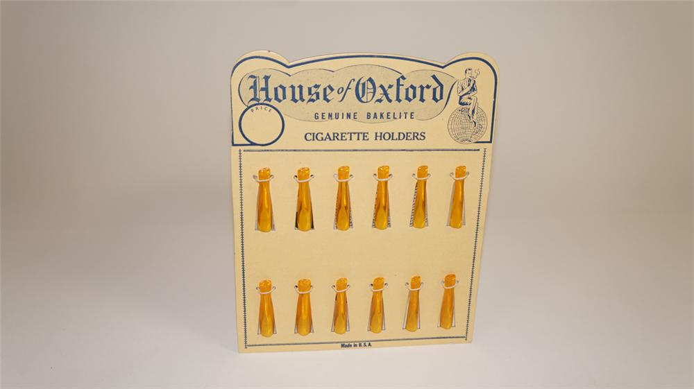 N.O.S. 1930's House of Oxford Bakelite Cigarette Holders service station counter-top easel back display - Front 3/4 - 177796