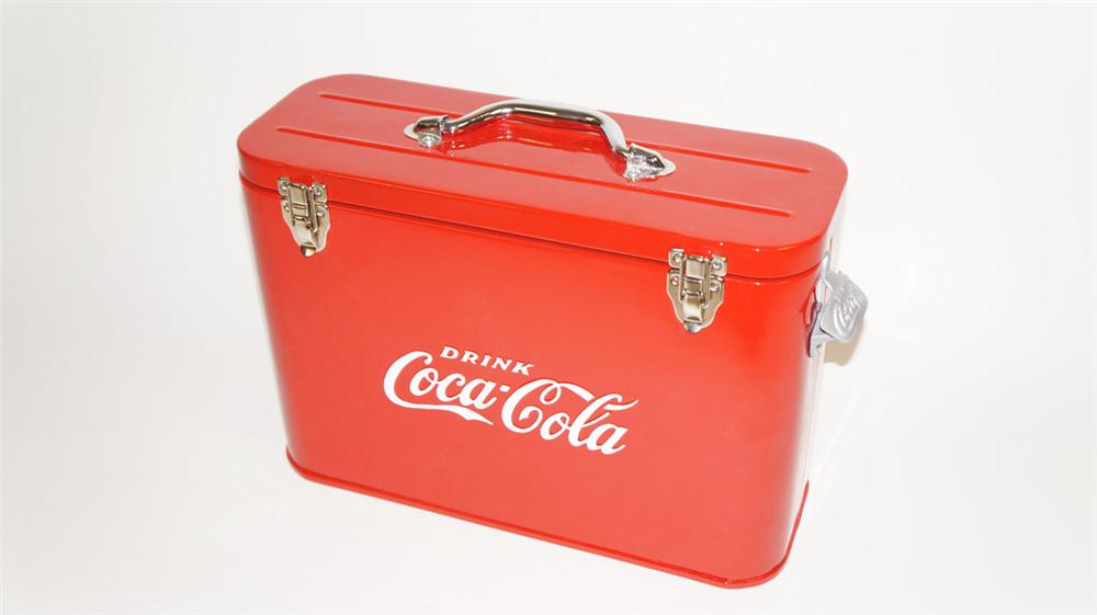 "Hard to find 1950's Coca-Cola restored ""Airline"" soda bottle cooler. - Front 3/4 - 177809"
