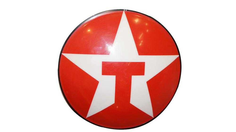 Large Texaco Oil single-sided light-up service station sign. - Front 3/4 - 177847