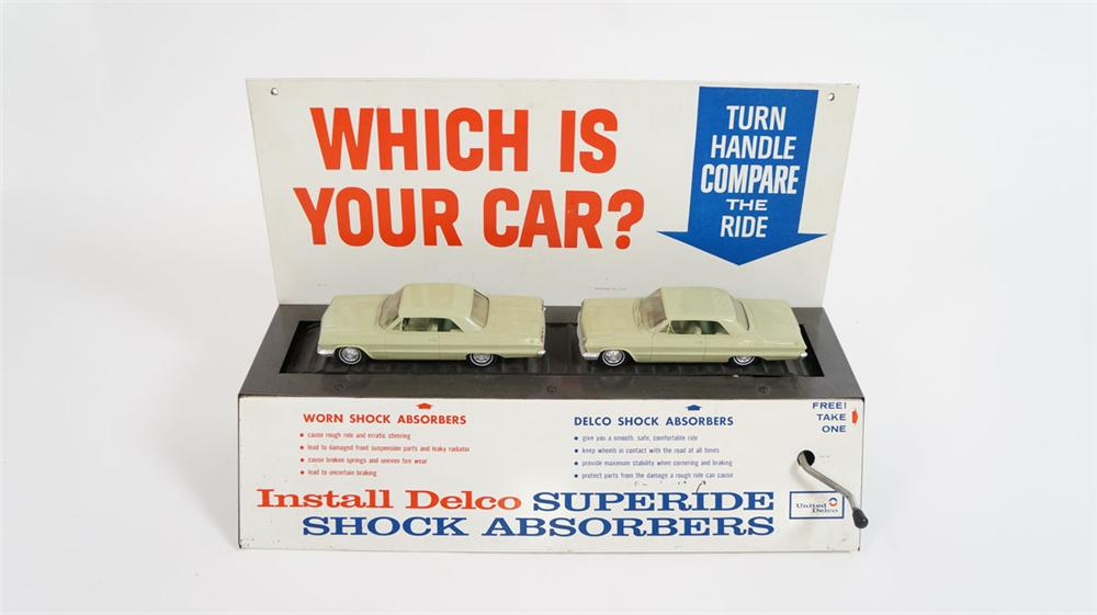 Rare 1964 Chevrolet GM Delco Superide Shock Absorbers dealer display - Front 3/4 - 177857
