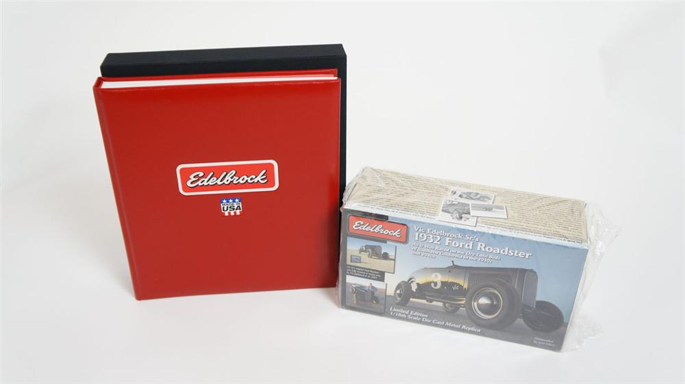 "Very desirable leather bound ""History of Edelbrock"" - Front 3/4 - 177863"