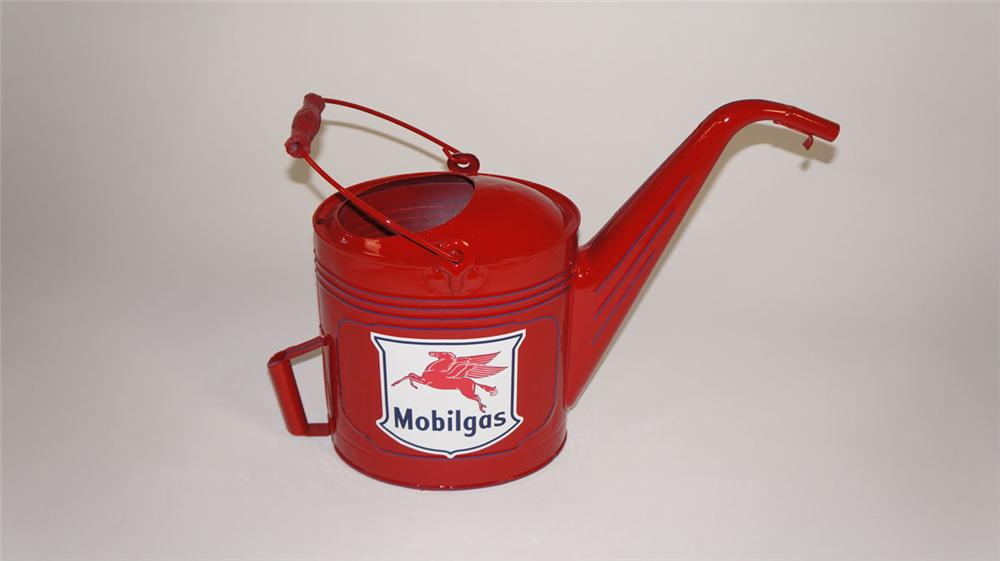 Fabulous 1920's-30's restored Mobil Oil service department radiator service/water can. - Front 3/4 - 177886