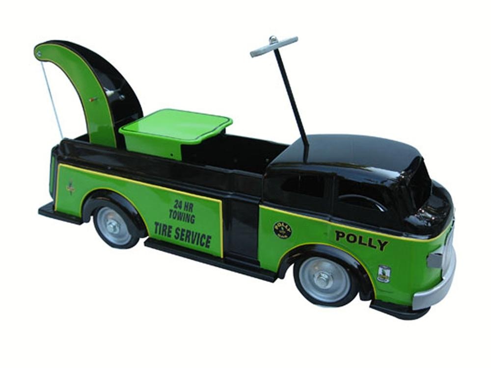 Professionally restored Marx Ride-On Tow Truck. - Front 3/4 - 177912