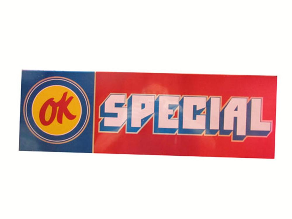 "Scarce late 1960's-early 70's Chevrolet OK Used Cars car lot ""topper"" sign. - Front 3/4 - 177931"