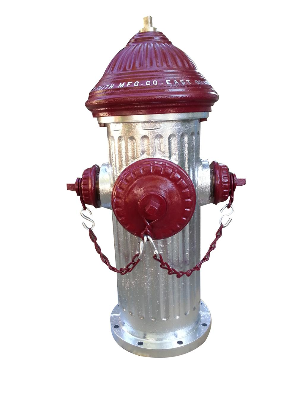 Magnificent turn of the century cast iron restored Fire Hydrant - Front 3/4 - 177986