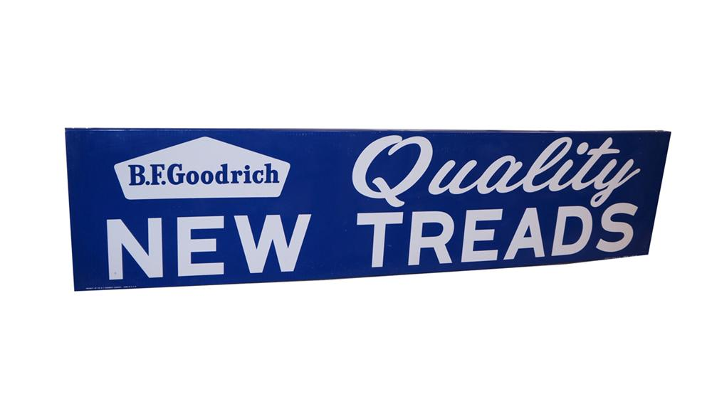 Uncommon N.O.S. 1961 BF Goodrich Quality New Tires horizontal tin automotive garage sign - Front 3/4 - 177988