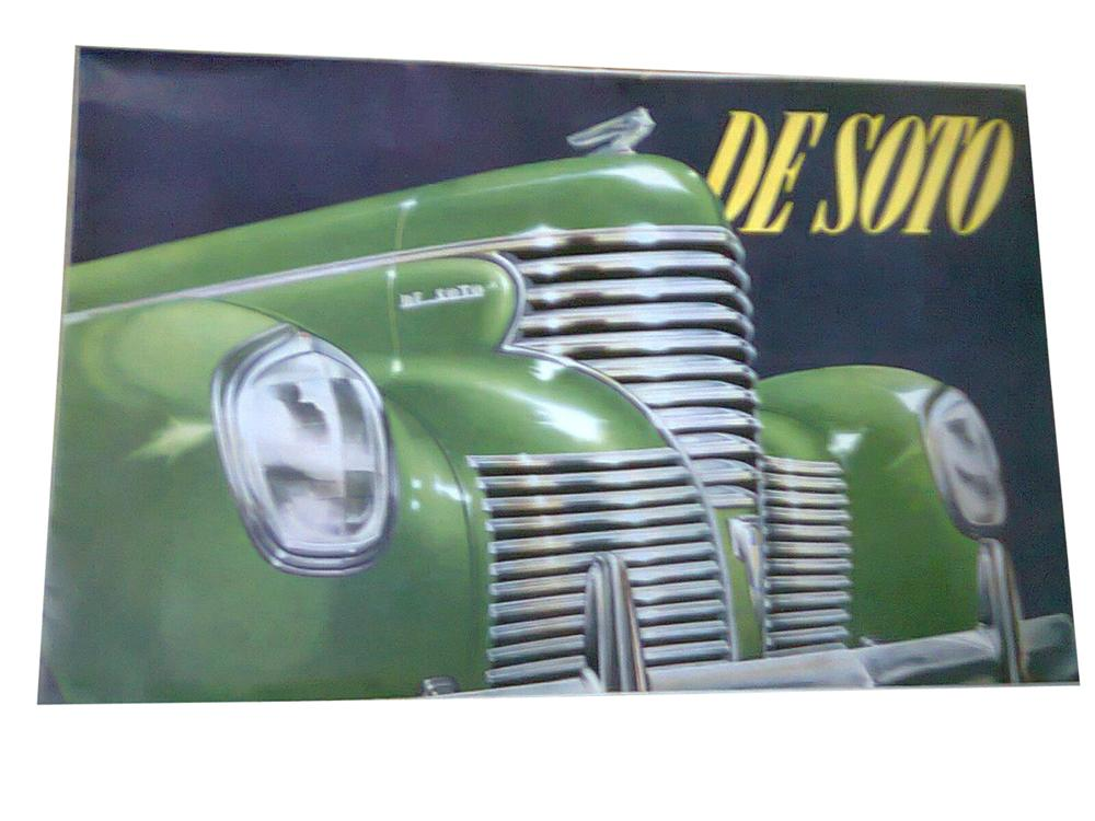 Impressive DeSoto Automobiles color showroom sales brochure covering the entire line-up. - Front 3/4 - 178019
