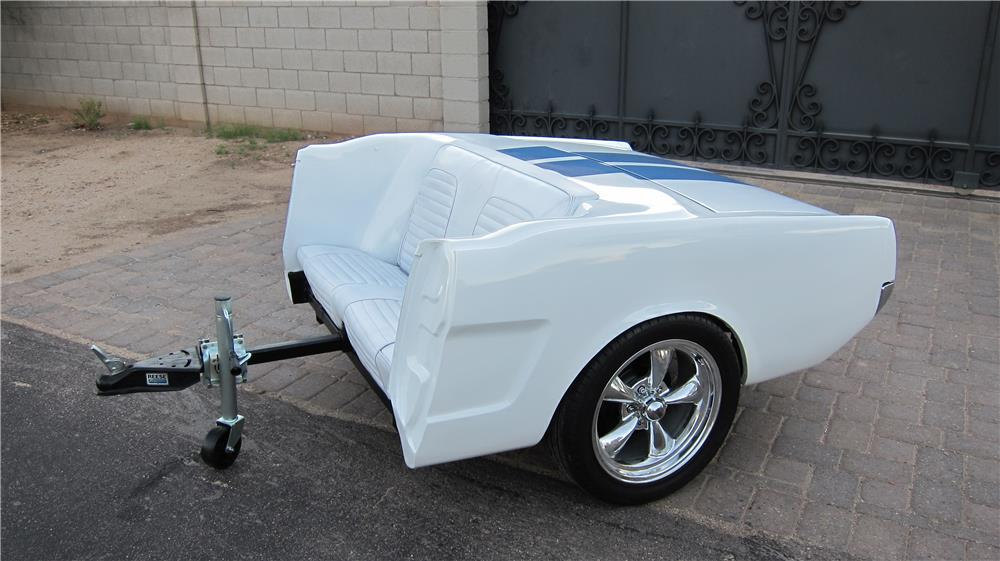 Killer custom 1966 Mustang rear end cleverly made into a combo trailer/couch. - Front 3/4 - 178309