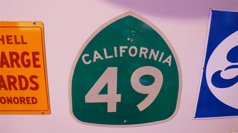 Vintage California 49 metal highway road sign. - Front 3/4 - 178785