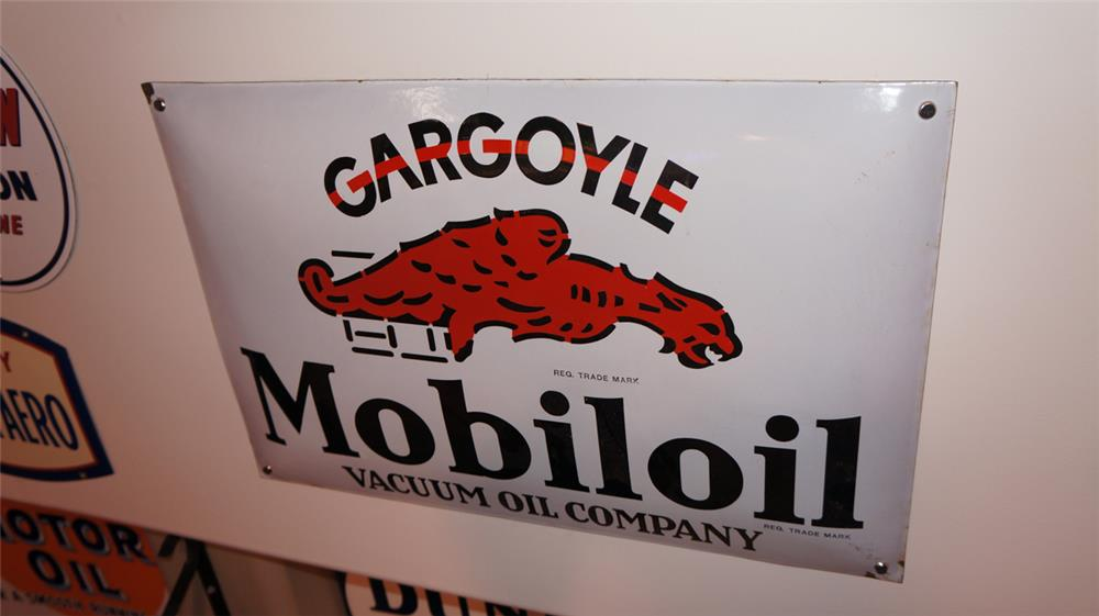 Unusual 1930's Gargoyle Mobil Oil single-sided porcelain three-dimensional sign. - Front 3/4 - 178950