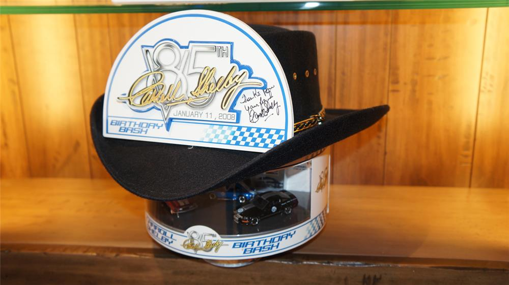 Carroll Shelby 85th Anniversary hat with Shelby die-cast cars. - Front 3/4 - 178966