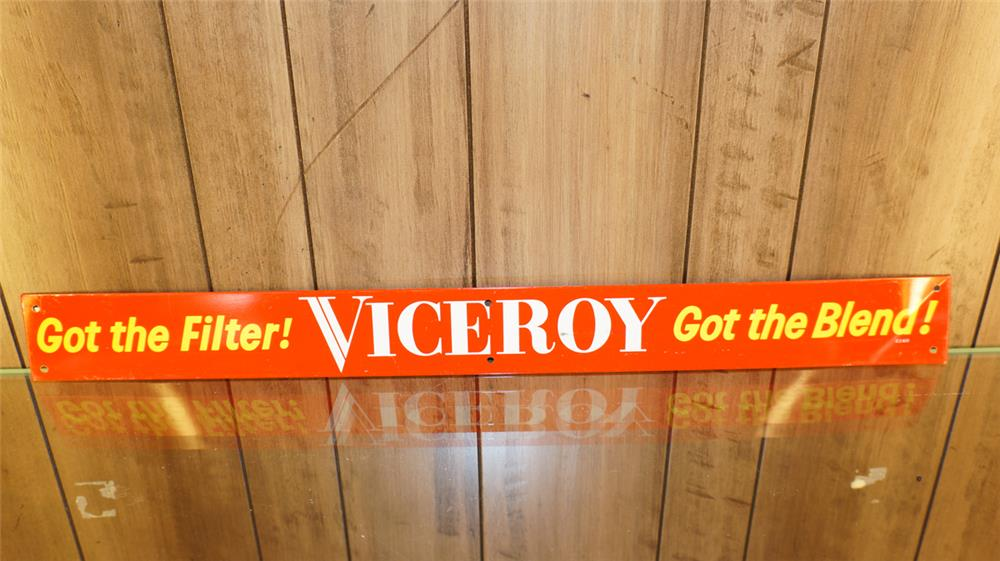 N.O.S.  1960's Viceroy Cigarettes tin tacker sign. - Front 3/4 - 179064