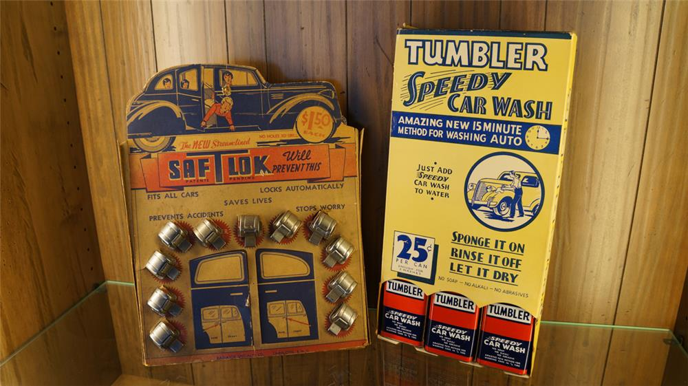 1930's Safety Lock display and Speedy Car Wash display. - Front 3/4 - 179080