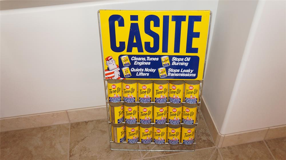 N.O.S.  1950's-60's Casite automotive products display rack filled with original product. - Front 3/4 - 179100