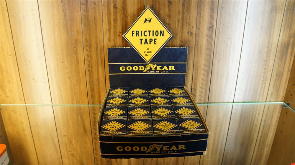 N.O.S.  1930 Goodyear friction tape counter top display. - Front 3/4 - 179101