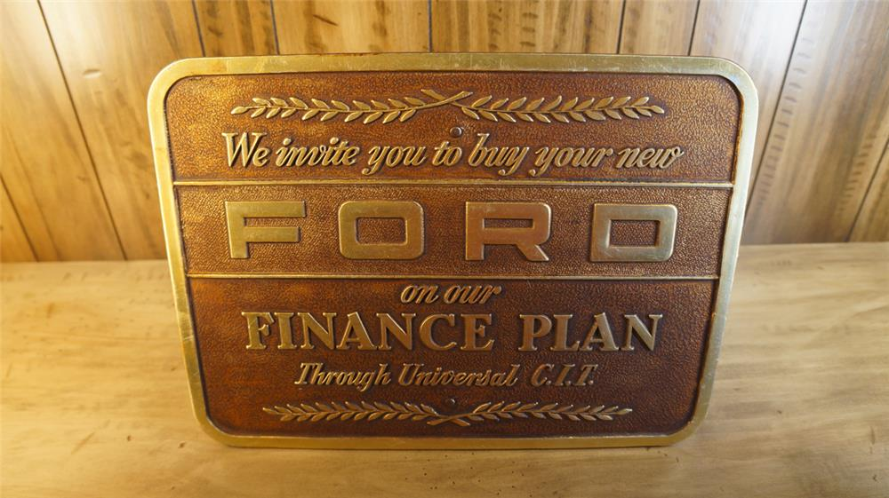 Late 1950's Ford finance plan showroom sign. - Front 3/4 - 179108