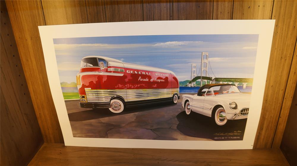 Goettner limited edition number 21 of 300 Parade of Progress Futureliner print signed by the artist. - Front 3/4 - 179133