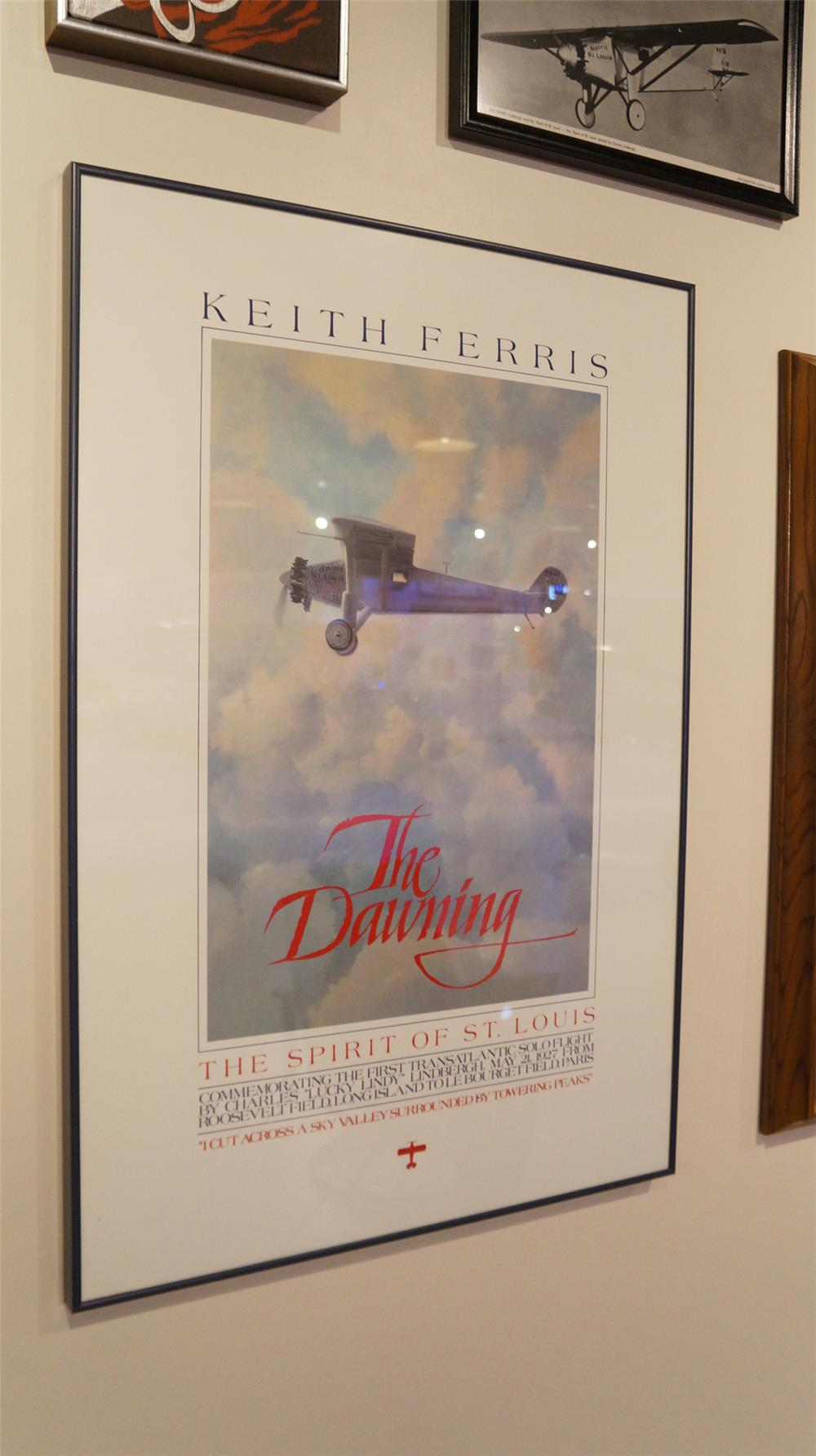 "Keith Ferris The Dawning Spirit of St. Louis"" framed poster. - Front 3/4 - 179174"