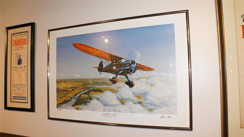 Lindbergh's D-145 Monocoupe plane signed by Robyn Clark - Front 3/4 - 179234