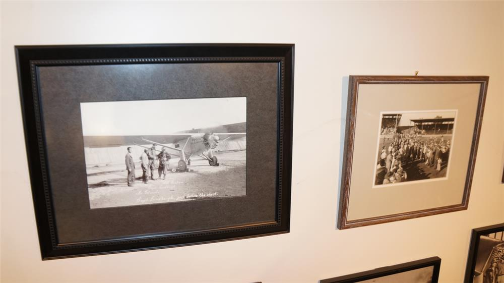 Lot of 2 framed Lindbergh photos consisting of prior to take off and state fair reception. - Front 3/4 - 179238