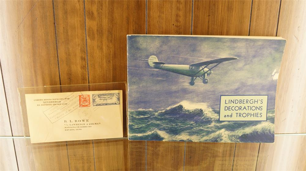 1928 Lindbergh letter mailed to Cuba and Lindbergh's decorations illustrated book. - Front 3/4 - 179246