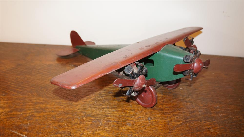 Large Steelcraft Tri Motor airplane all original. - Front 3/4 - 179256