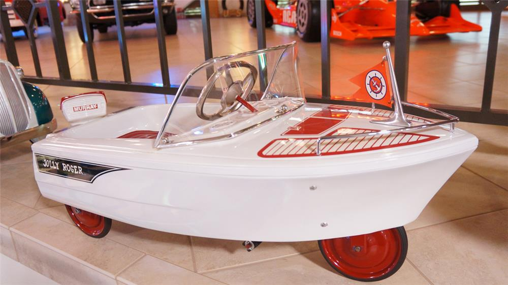 Beautiful 1960's Murray Jolly Roger restored Chris-Craft styled pedal car. - Front 3/4 - 179511
