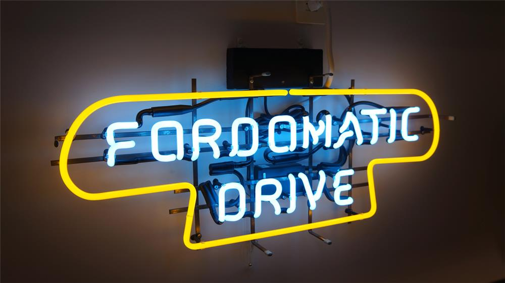 1950's Fordomatic Drive Ford dealership showrooms sales neon sign. - Front 3/4 - 179512