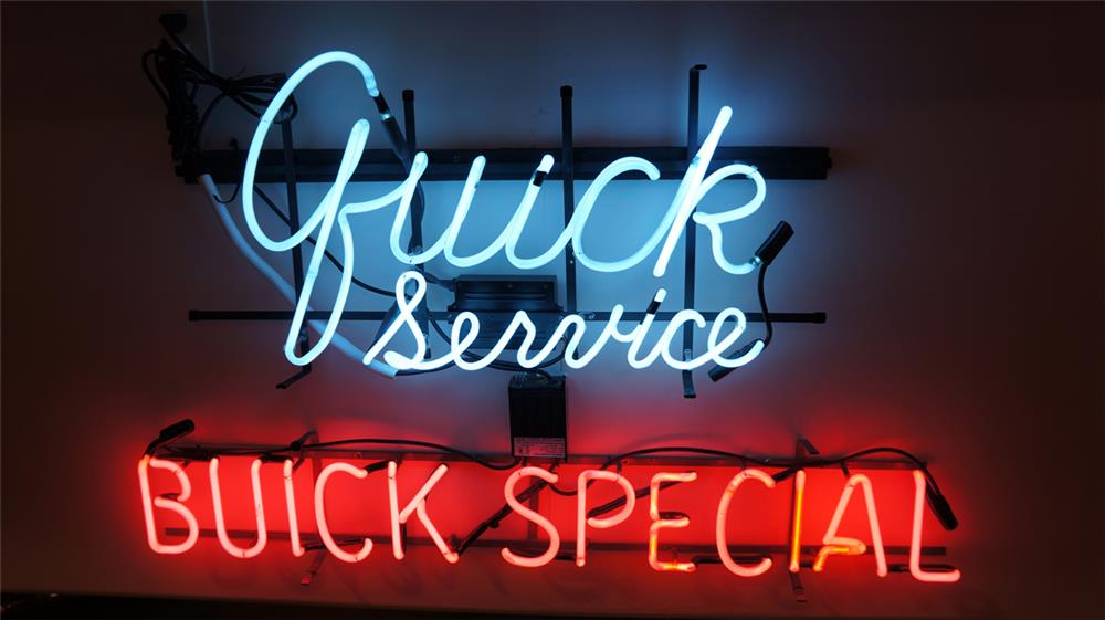 Awesome 1950's set of Buick Service-Buick Special dealership show rooms sales neon signs. - Front 3/4 - 179519