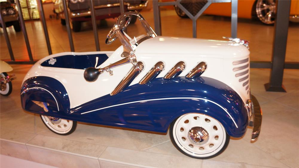 Magnificent 1935 Steelcraft Auburn Supercharger pedal car restored to show quality standards. - Front 3/4 - 179533