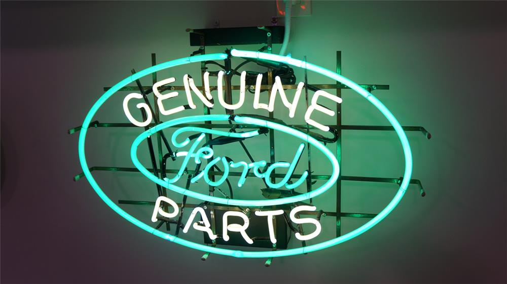 1930's-40's Ford Genuine Parts dealership showroom neon sign. - Front 3/4 - 179657